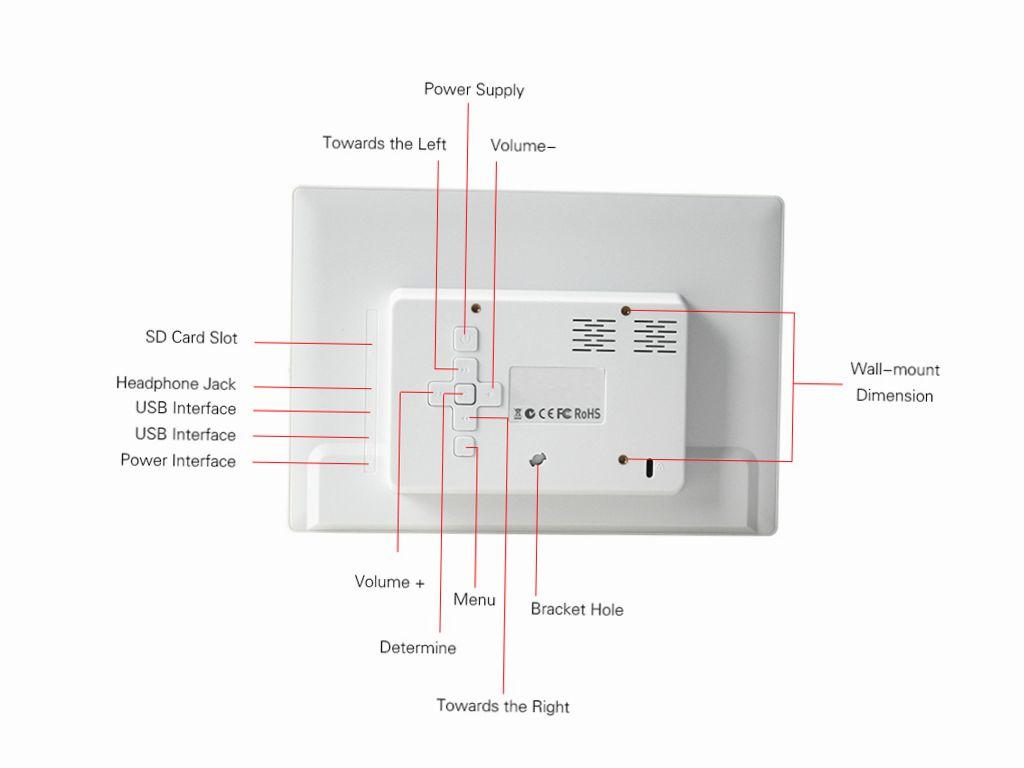 Жк led монитор DISTART-1011-WHT