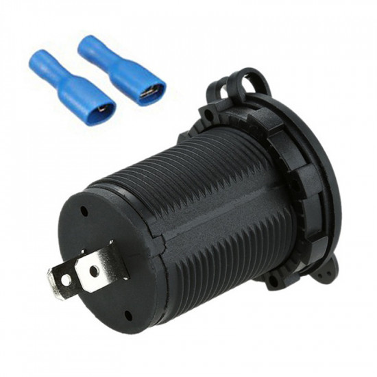 USB Зарядка для транспорта 2USB 3.1A оранжевая подсветка TUC-CA23-BLK-ORG