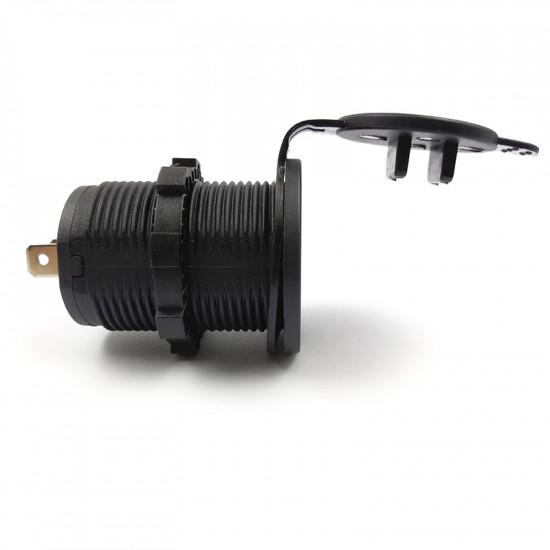 USB Зарядка для транспорта 2USB 3.1A красная подсветка TUC-CA23-BLK-RED