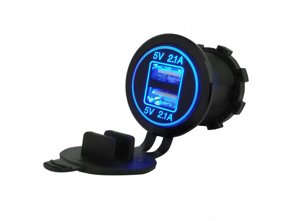 Usb зарядное устройство для транспорта TUC-CB24-BLK-BLU