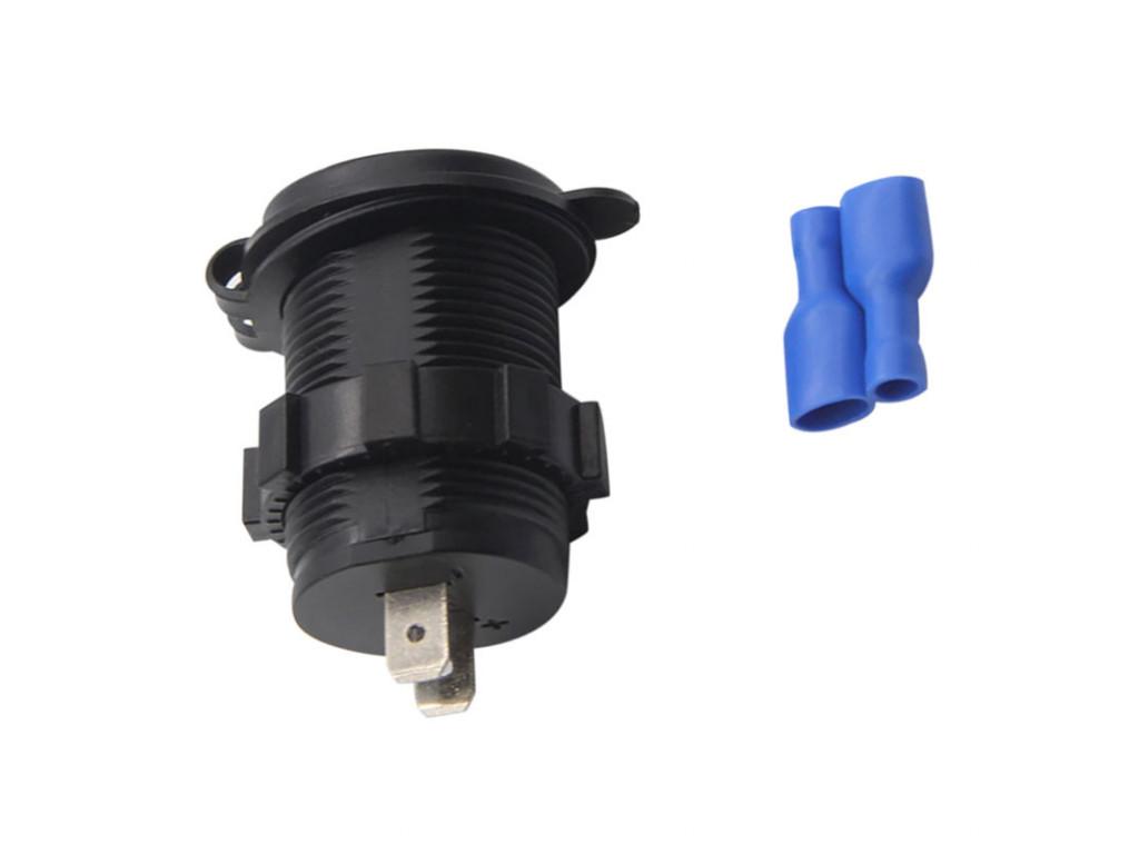 Usb розетка в электричке USB Зарядка для транспорта 2USB 4.2A оранжевая подсветка TUC-CB24-BLK-ORG