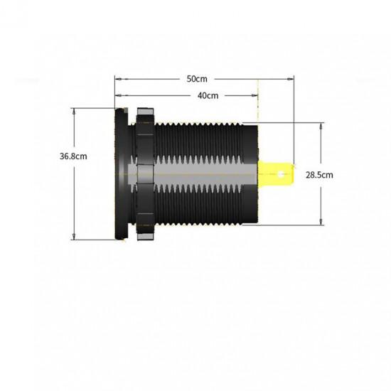 USB Зарядка для транспорта 2USB 4.2A оранжевая подсветка TUC-CB24-BLK-ORG