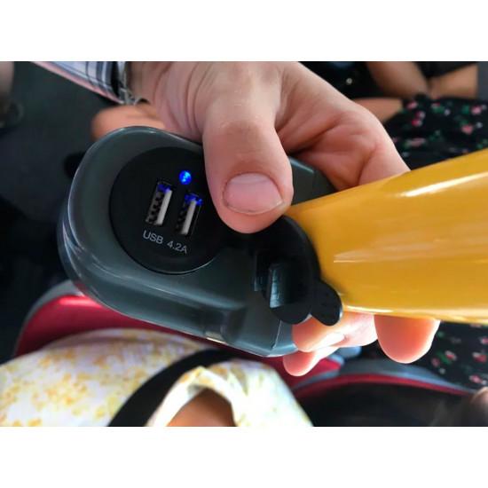 Держатель USB зарядного устройства на поручень в транспорте черный TUC-HLD-HR01-BLK