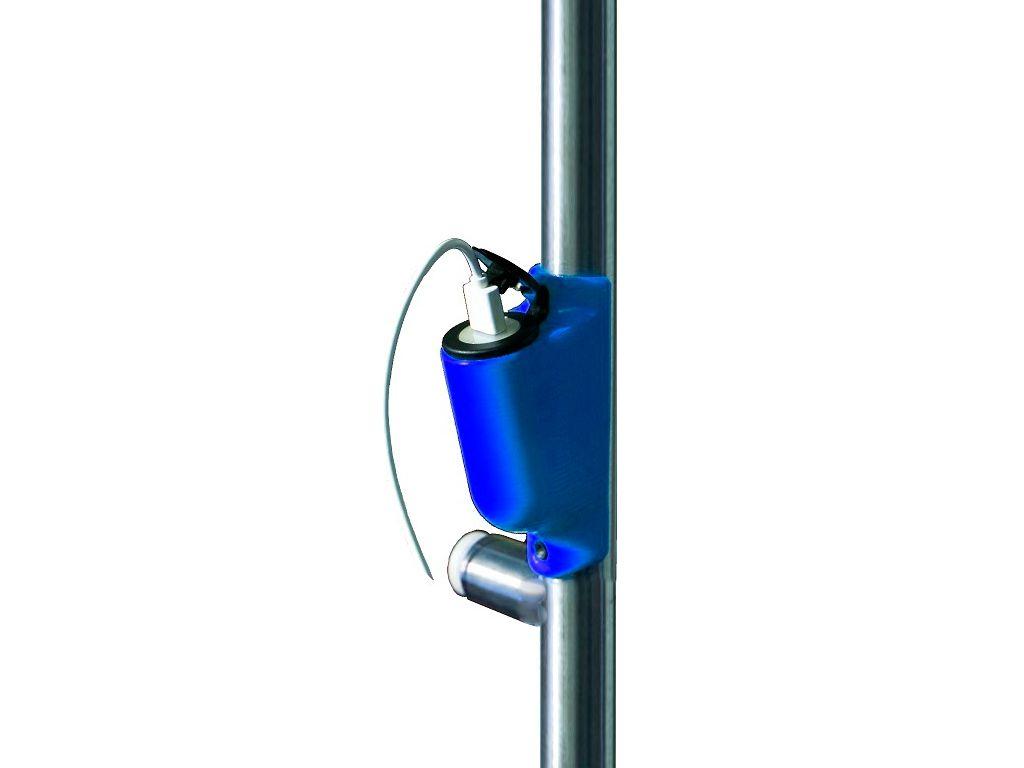 Usb на поручень Крепление USB зарядного устройства на поручень в транспорте синий TUC-HLD-HR01-BLU