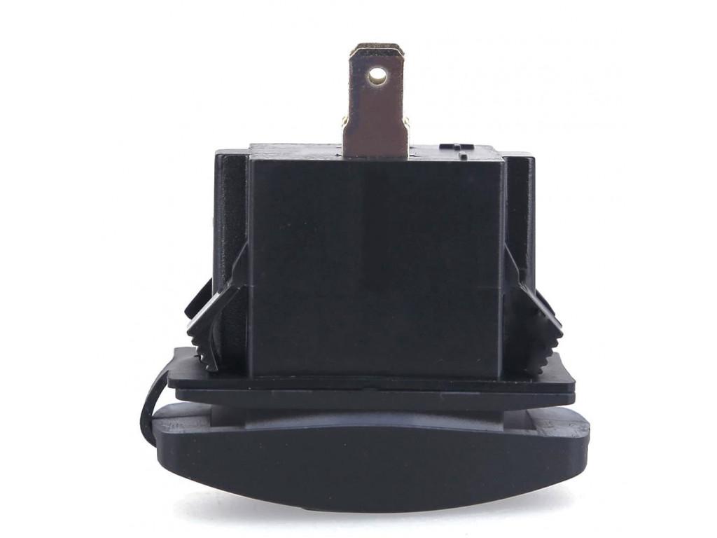Usb зарядник в поезде USB розетка в транспорт 2 USB 3.1A голубая подсветка TUC-RA23-BLK-BLU