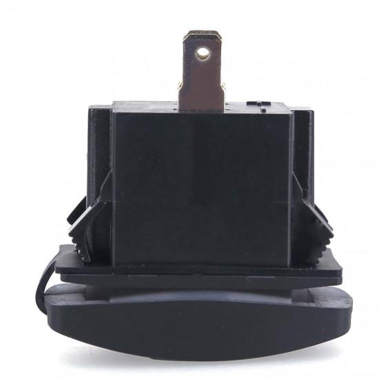 USB розетка в транспорт 2 USB 3.1A голубая подсветка TUC-RA23-BLK-BLU