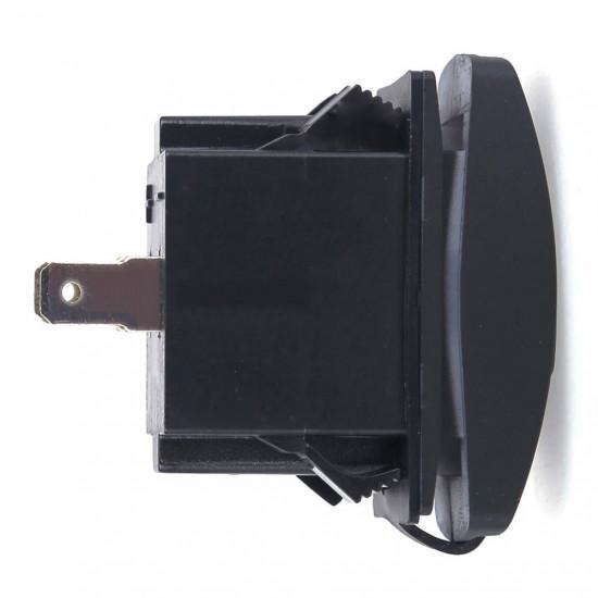 USB розетка в транспорт 2 USB 3.1A зеленая подсветка TUC-RA23-BLK-GRN