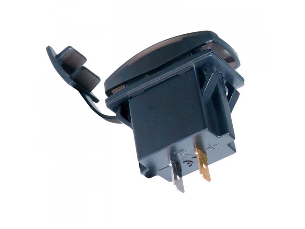 Usb в автомобили USB розетка в транспорт 2 USB 3.1A оранжевая подсветка TUC-RA23-BLK-ORG