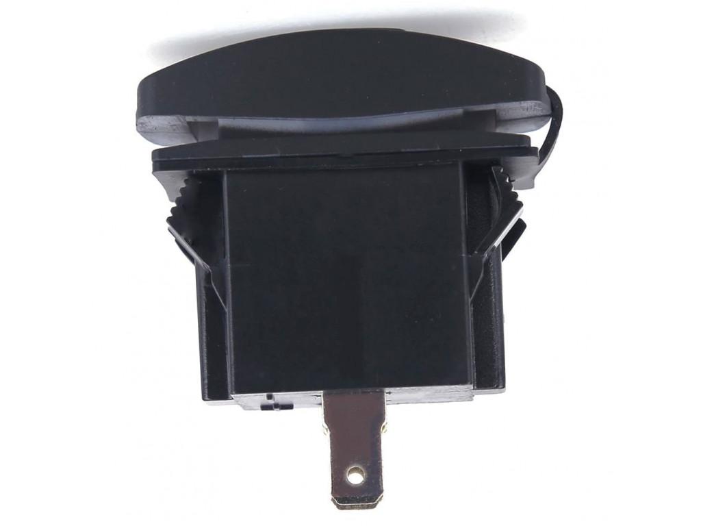 Usb зарядка в электричке USB розетка в транспорт 2 USB 3.1A оранжевая подсветка TUC-RA23-BLK-ORG