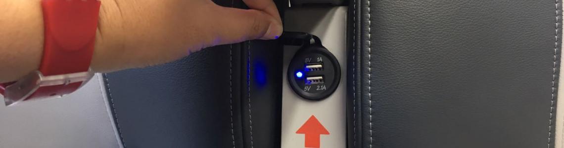 Пассажирский поезд с USB розетками
