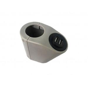 Крепление USB зарядного устройства на поручень в транспорте серый TUC-HLD-HR01-GRY